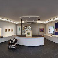 Mit Dem 360° Panorama-Rundgang Durch Die Ausstellung Von Augusto Giacometti